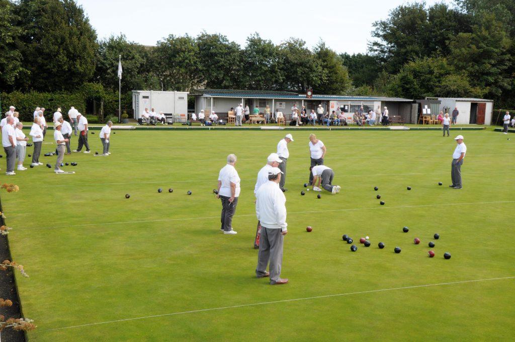 Bowling green at the Burton Pidsea Bowling Club