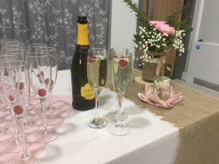 Wedding drinks at Burton Pidsea Memorial Hall